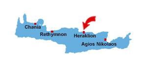 Heraklion map
