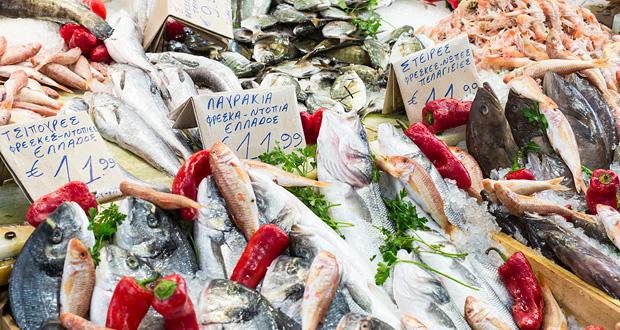 Kreta Markt Fisch